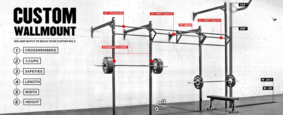 accessories rogue fitness rogue custom wall mount rig